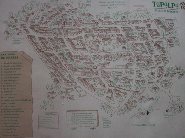 map of town of Tapalpa, Mexico