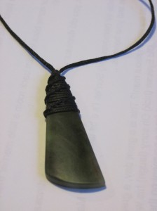 Greenstone Jade Toki Necklace for Dave Clingman