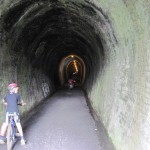 Railroad Tunnel in Karangahake Gorge Rail Trail