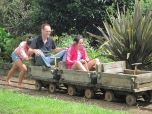 Jigger Railroad Carts at Kauranga Valley Christian Camp