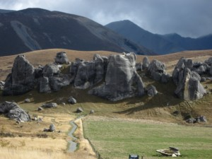 Castle Rock in Southern Alps on way to Arthur's Pass