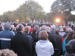 Anzac Day ceremony in Christchurch, New Zealand 2012
