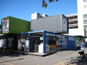 Cashel Mall in Christchurch - open using shipping containers