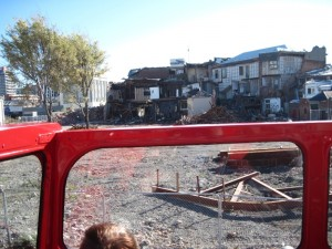 Earthquake damaged buildings in Christchurch