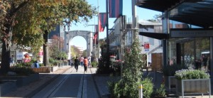 Christchurch Remembrance Bridge as viewed from Cashel Container Mall