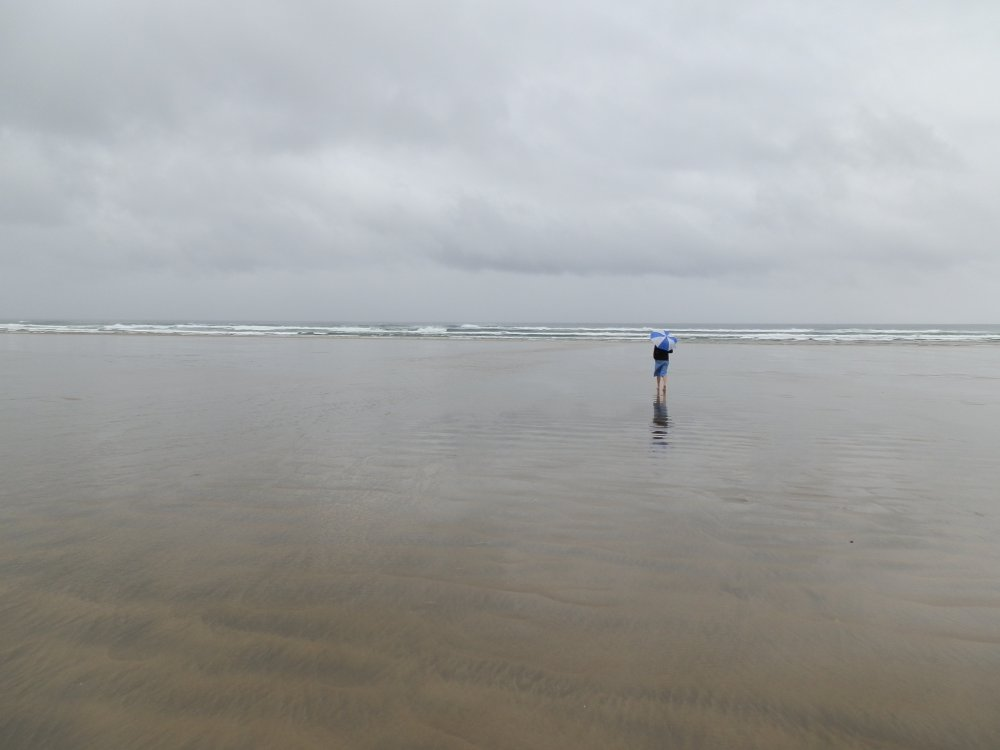 Andrew J. Wharton at Ninety Mile Beach, New Zealand