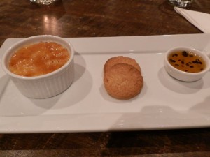Ake Ake Vineyard & Restaurant's Coconut & Cardamon Rice Pudding Creme Brulee