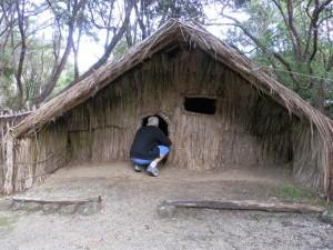 Chief's Whare (Home) in Rewa's Maori Village in Kerikeri, New Zealand