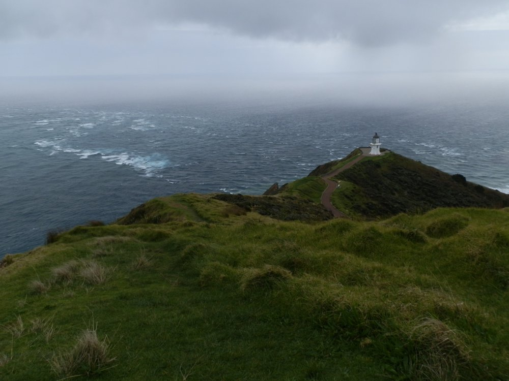 Point Reinga, New Zealand, Meeting Place of Tasman Sea and Pacific Ocean