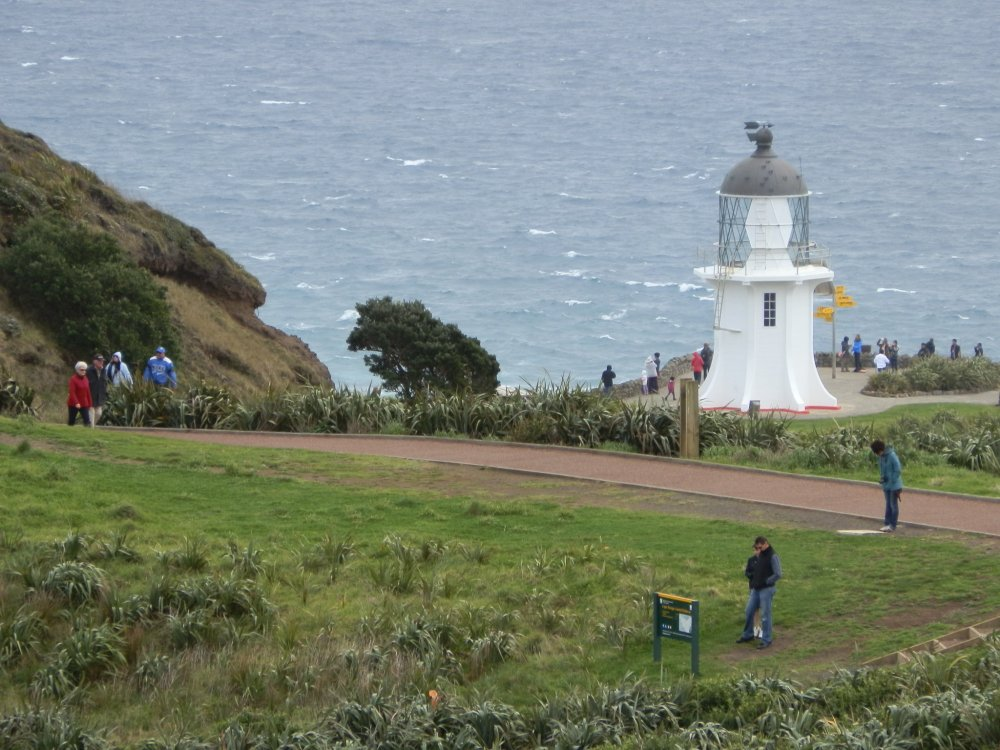 Point Reinga Lighthouse at the extreme north of New Zealand