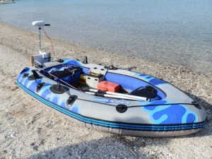Groupy Inflatable Boat with Electric Motor
