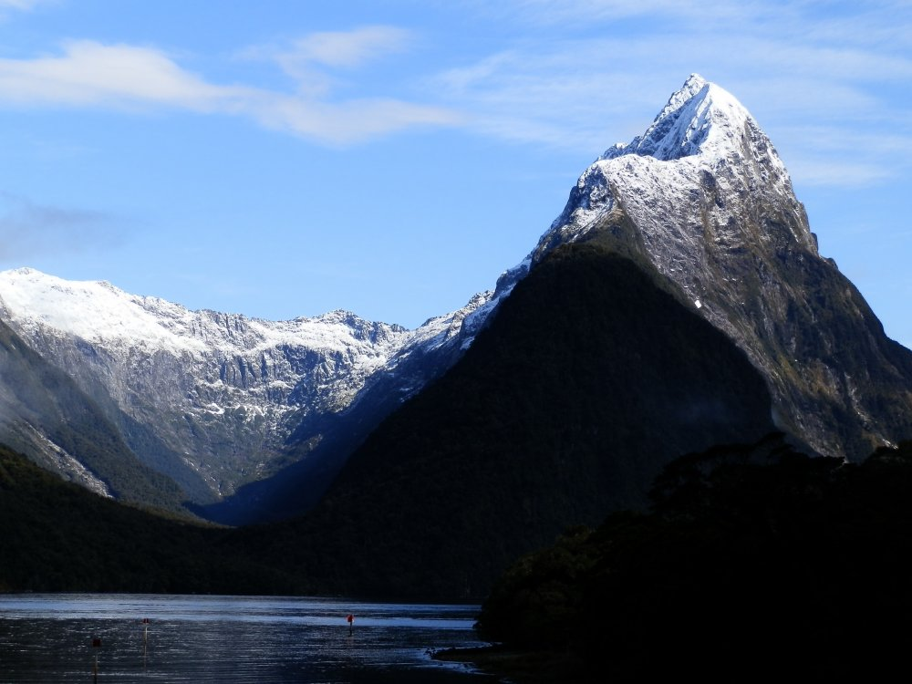 Mitre Peak in Milford Sound, Fiordland National Park, New Zealand