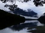 Mountain lake in Fiordland National Park, New Zealand