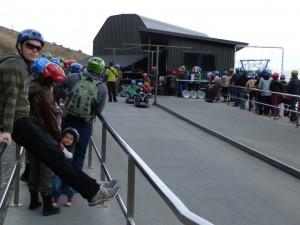 Beginning of Skyline Luge in Queenstown, New Zealand