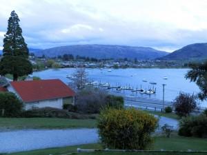 Wanaka Bakpaka's view of Lake Wanaka and Wanaka town