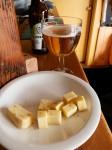 Sampling beer (with cheese) at Wanaka Beer Works