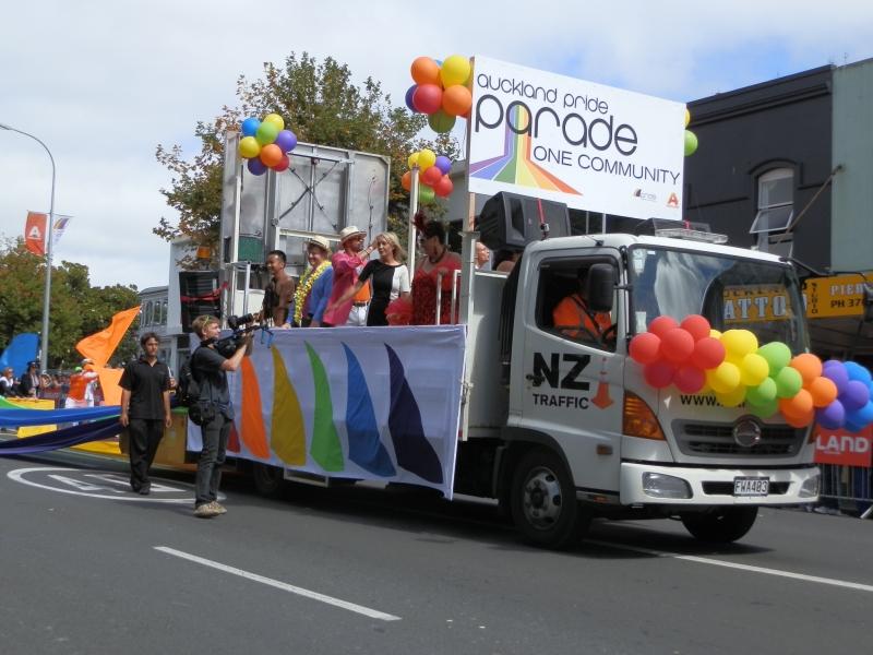 Auckland New Zealand's Gay Pride Parade, February 16, 2013