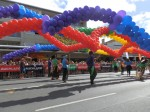 Balloons at Auckland's Gay Pride Parade