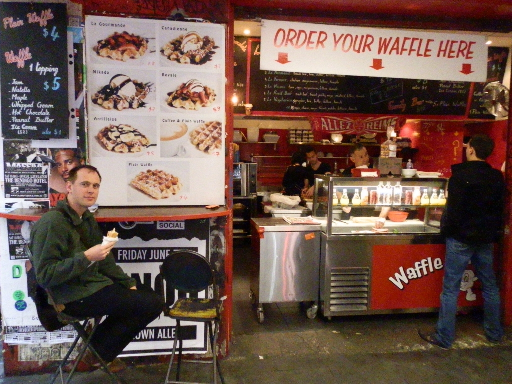 Belgian Waffles in Melbourne, Australia