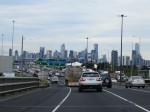 Entering Melbourne on Motorway
