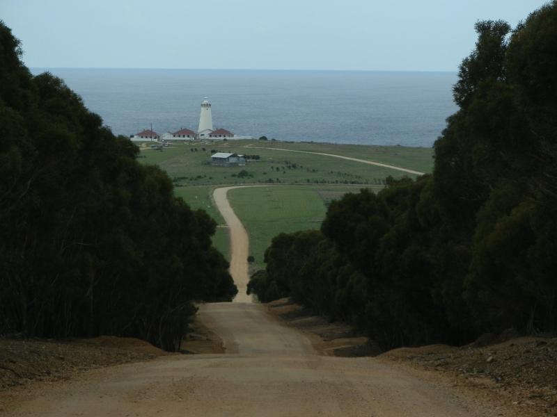 Heading toward Kangaroo Island's Cape Willoughby Lighthouse