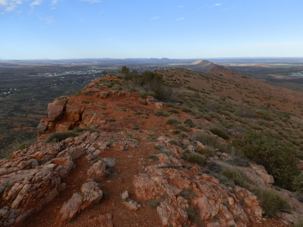 MacDonnell Range view of Alice Springs