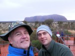 Dave Clingman and Andrew J. Wharton at Uluru Ayers Rock at sunrise