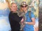 Dave Clingman and Andrew J. Wharton holding a koala bear