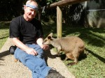 Dave Clingman feeding a wallaby