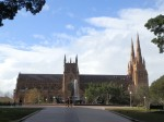 Hyde Park and St. Mary's Cathedral, Sydney, Australia