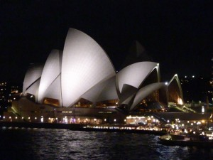 Sydney, Australia's Opera House at nighttime