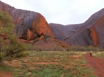 A canyon of Ayers Rock