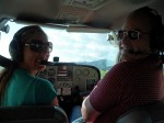 Pilot Amber Drummond and Dave Clingman flying around Coromandel Peninsula