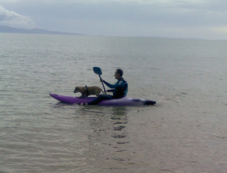 Andrew J. Wharton and Tazmin on Kayak in Firth Of Thames, New Zealand