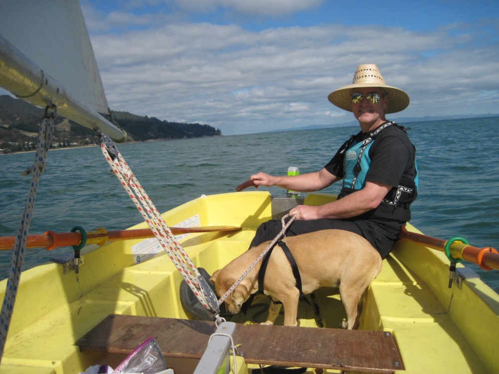 Dave Clingman Sailing on Firth of Thames, off Coromandel Peninsula in New Zealand