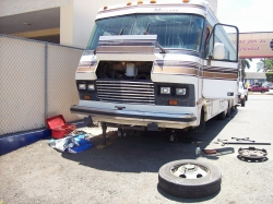 Dave Clingman and Andrew Wharton's RV motorhome brake repair in Mazatlan, Mexico