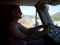 Dave Clingman driving RV to Mexico