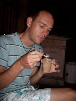 Andrew Wharton's first taste of Mexico ice cream in Mazatlan