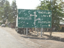 road sign at Mazatlan, Mexico