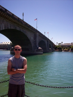 Andrew J. Wharton at London Bridge in Arizona